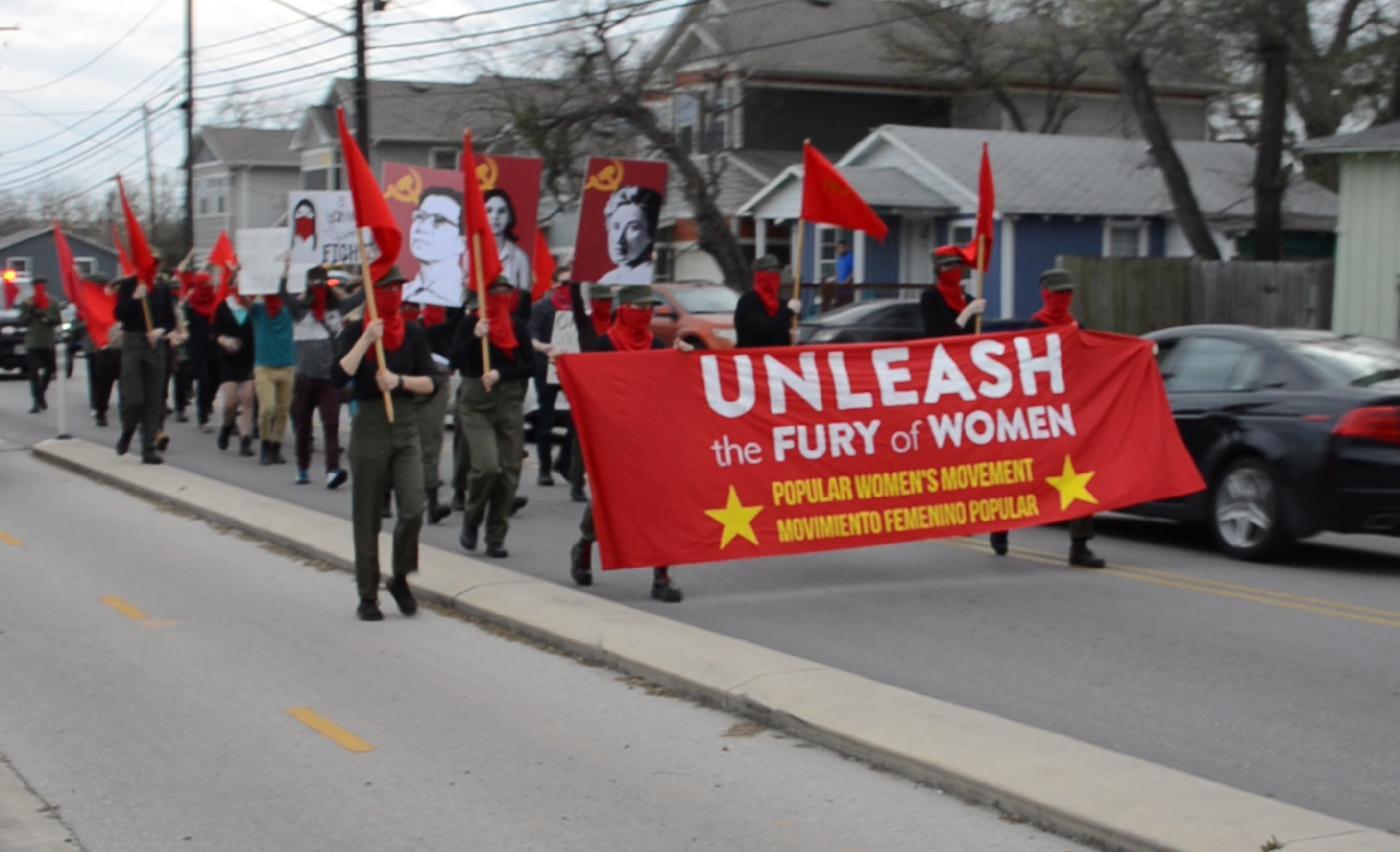 AUSTIN: International Working Women's Day March Clashes with Fascists, Police Make Arrests