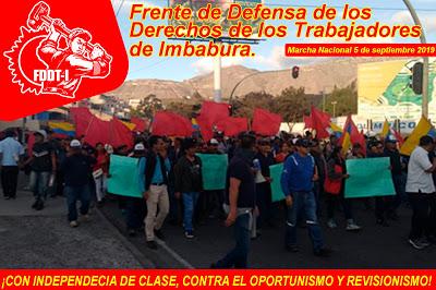 Fotos de la marcha proletaria el 5 de septiembre