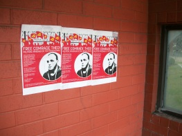 Flyers in Solidarity with Comrade Théo in Pittsburgh
