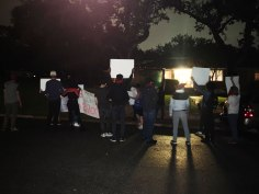Protesters Outside of Michael Whellan's Home