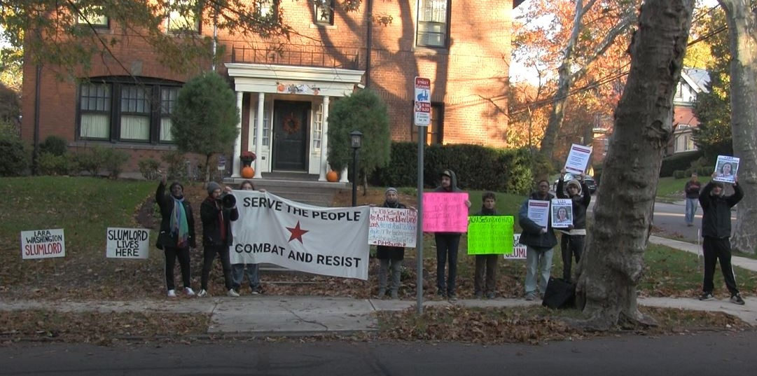 PITTSBURGH: Tenants Protest at Slumlord's Home After Displacement