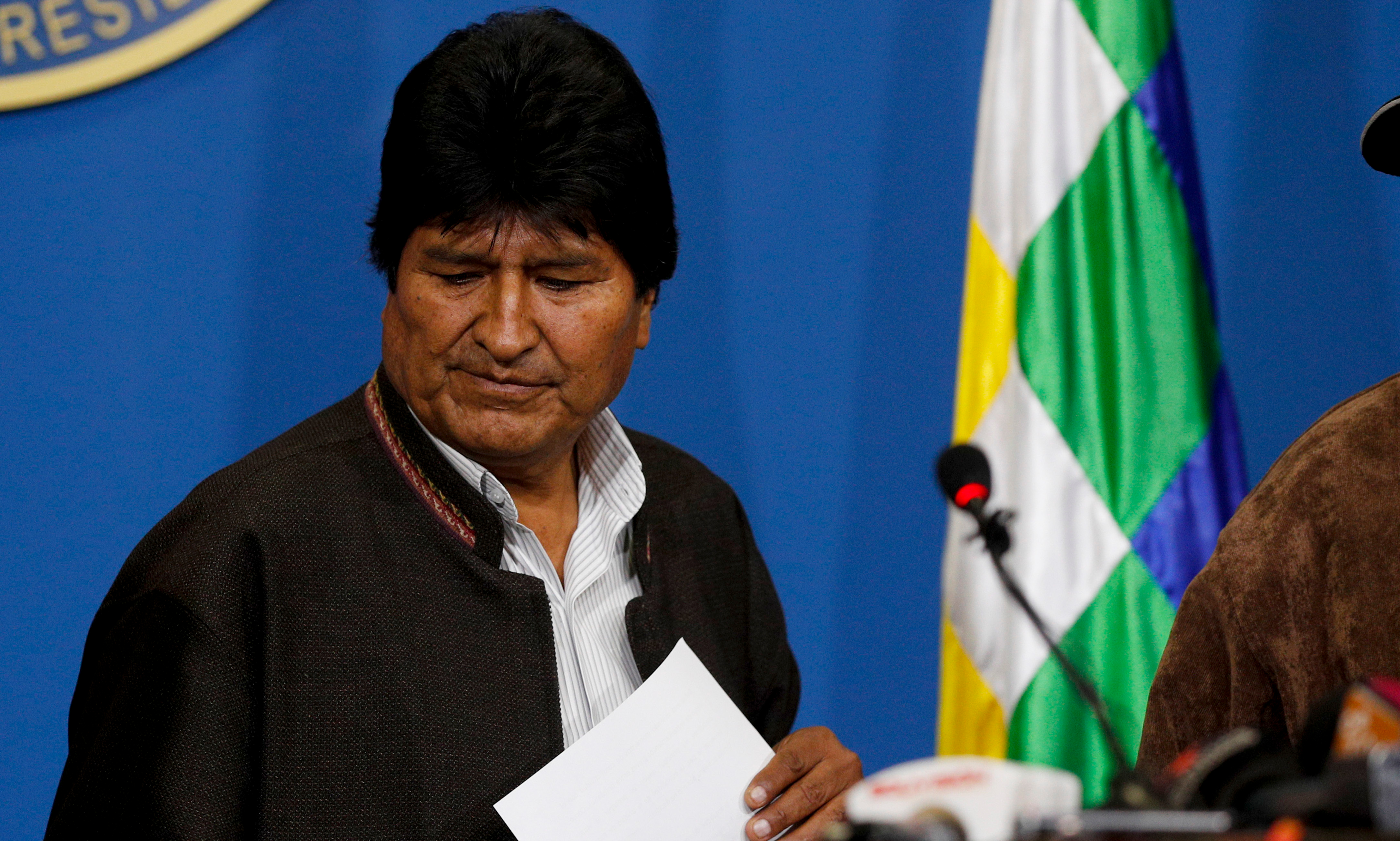 BOLIVIA: Right Wing Coup Deposes Opportunist Morales Government