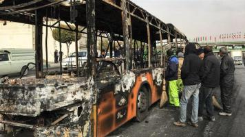 Many vehicles have also been torched by protesters