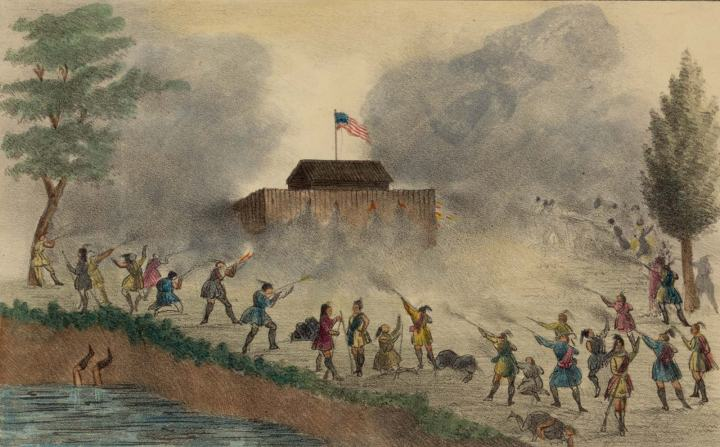 Seminoles attack fort on the Withlacoochee River in December 1835