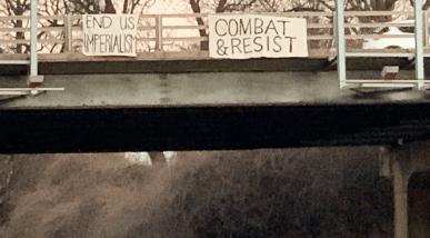 """End US Imperialism,"" ""Combat & Resist"""