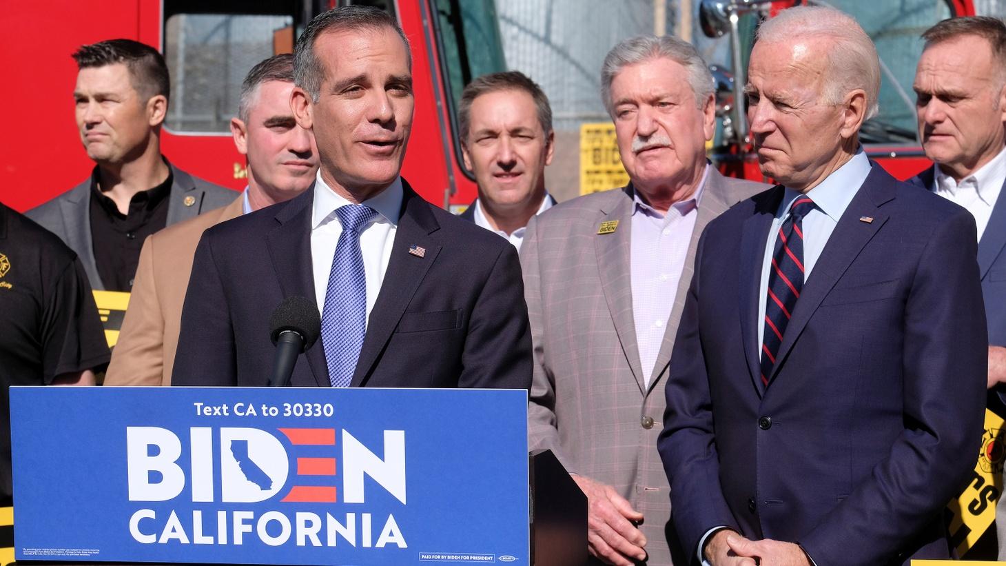 LOS ANGELES: Mayor Endorses Imperialist Presidential Candidate Joe Biden