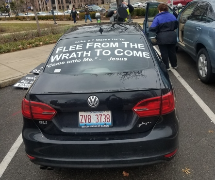 Car belonging to the right-wing disruptor