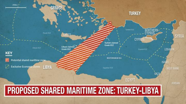 turkey-libya maritime border