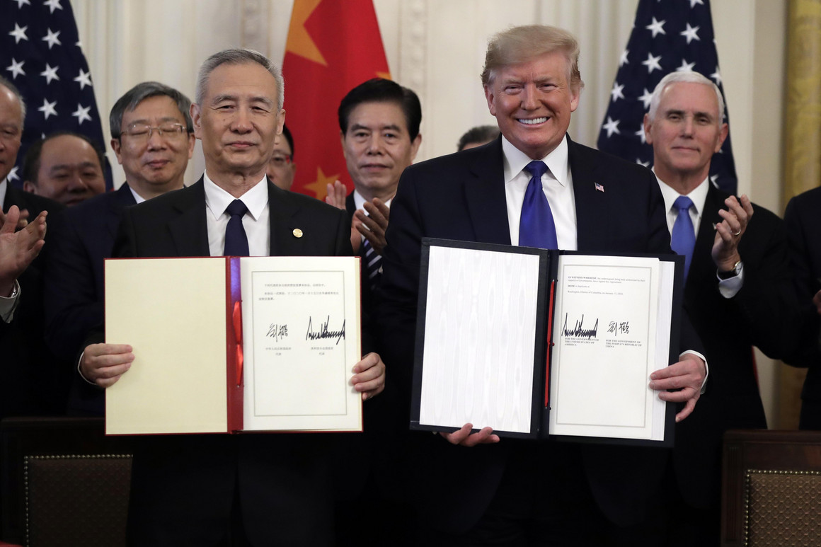 US and China Sign 'Phase One' of Trade Deal