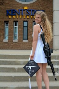 gun girl graduation